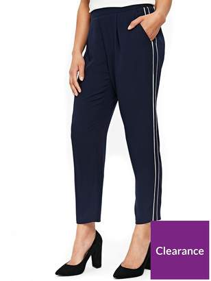Wallis Side Stripe Piped Jogger - Ink Navy