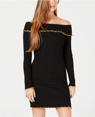 Almost Famous Juniors' Off-The-Shoulder Sweater Dress