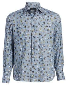Saks Fifth Avenue COLLECTION Linen Floral Button-Down Shirt