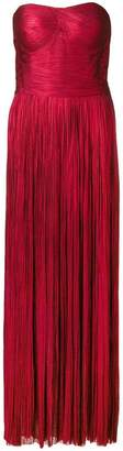 Maria Lucia Hohan strapless metallic maxi dress