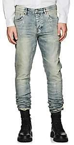 Purple Men's P001 Metallic Slim Jeans-Blue