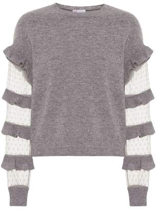 RED Valentino Ruffled virgin wool sweater