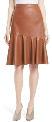 Women's Rebecca Taylor Faux Leather Skirt $395 thestylecure.com