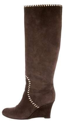 Gucci Knee-High Wedge Boots