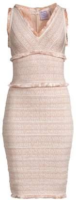 Herve Leger Tweed Fringe Dress