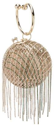Rosantica By Michela Panero - Camelia Crystal Embellished Cage Clutch - Womens - Crystal Multi