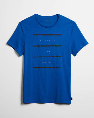 Express Faded Line Crew Neck Graphic Tee