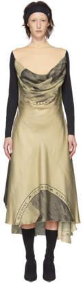 BEIGE Marine Serre Silk Moon Scarves Long Dress