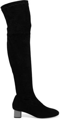 Robert Clergerie - + Self-portrait Suede Over-the-knee Boots - Black $895 thestylecure.com