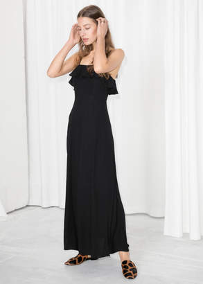 1e7f7105e3 And other stories Flowy Ruffle Maxi Dress