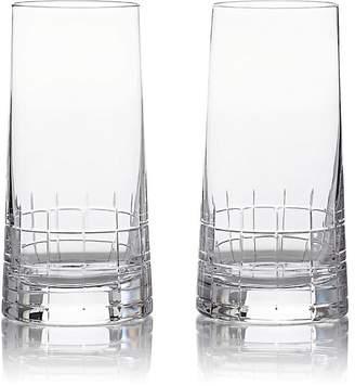 Christofle Set Of 2 Graphik Highball Glasses