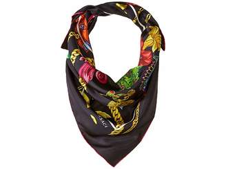 Versace Flower Chain Silk Scarf