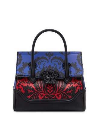 Versace Vitello Stampa Floral Barocco Top-Handle Satchel Bag