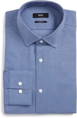 BOSS Gordon Regular Fit Print Dress Shirt