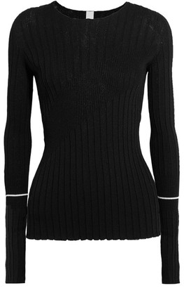 Georgia Alice - Ribbed-knit Top - Black $390 thestylecure.com