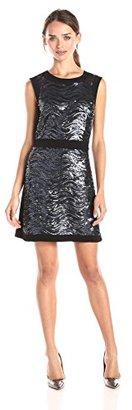 Juicy Couture Black Label Women's Wavy Sequin Shift Dress $77.14 thestylecure.com