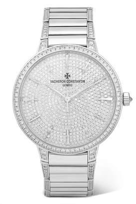 Vacheron Constantin Patrimony 36.5mm Small 18-karat White Gold Diamond Watch