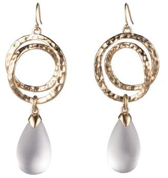 Alexis Bittar Hammered Coil Link Tear Drop Earring