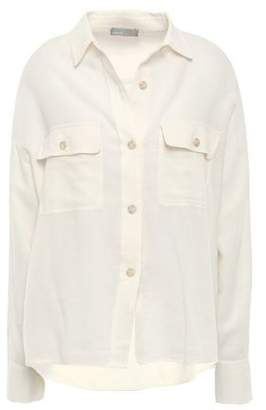 Vince Cotton And Modal-blend Twill Shirt