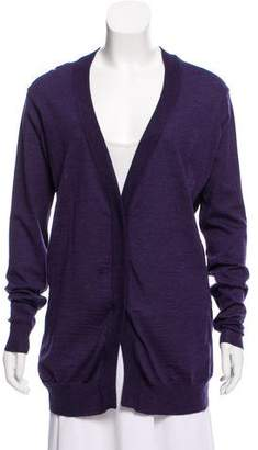 Proenza Schouler Wool Long Sleeve Cardigan