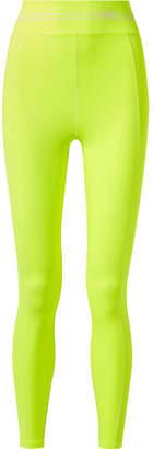Adam Selman Sport - Racer Neon Stretch Leggings - Yellow