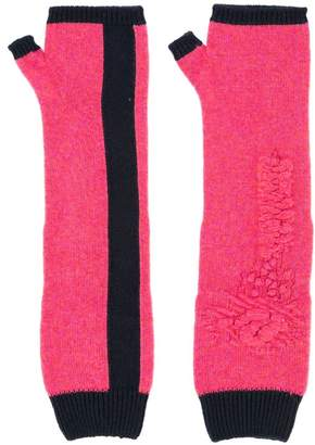 Barrie fingerless long gloves