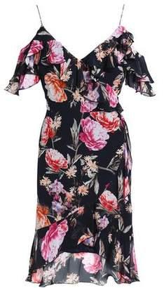 Nicholas Cold-Shoulder Ruffle-Trimmed Floral-Print Silk-Chiffon Dress