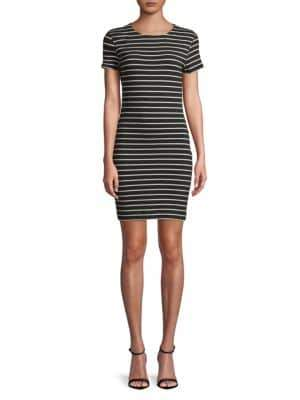 French Connection Striped Short-Sleeve Dress