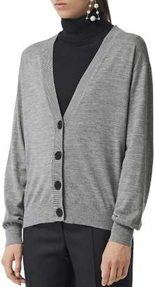 Burberry Dornoch Elbow Patch Cardigan