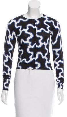 Diane von Furstenberg Printed Cardigan Sweater