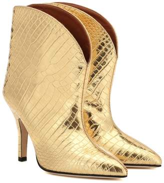 Paris Texas Metallic leather ankle boots