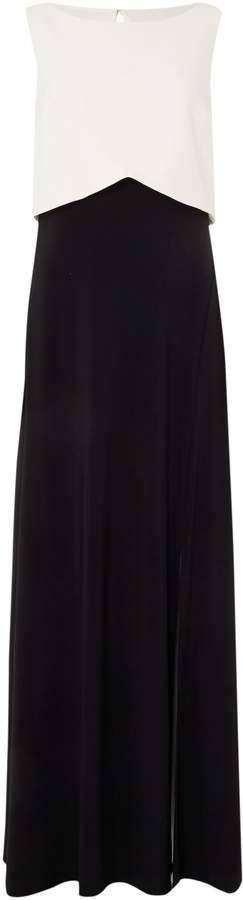 Untold Sleeveless monochrome gown