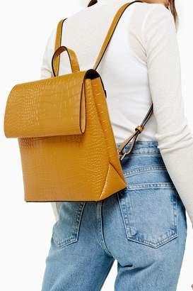 Topshop Womens Blaze Mustard Backpack - Mustard