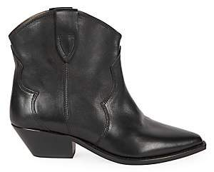 Isabel Marant Women's Dewina Leather Western Booties