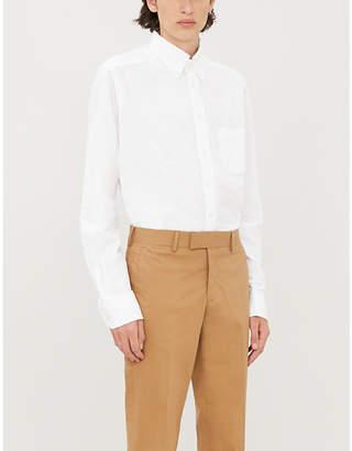 Eton Seersucker-print contemporary-fit cotton shirt