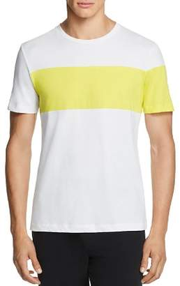 Helmut Lang Short-Sleeve Color-Block Logo Graphic Tee