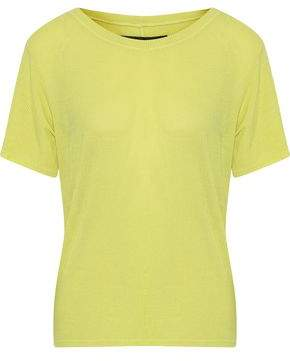 Enza Costa Ribbed Jersey T-Shirt