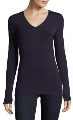 Saks Fifth Avenue BLACK Pullover V-Neck Sweater