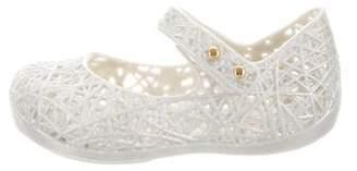 Mini Melissa Girls' Glitter Rubber Shoes