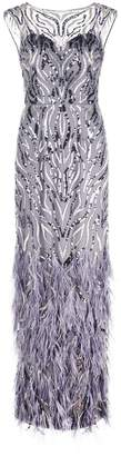Aidan Mattox embroidered evening dress