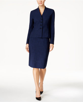Le Suit Mélange Four-Button Skirt Suit $200 thestylecure.com