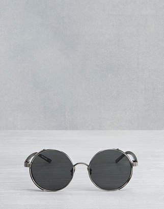Belstaff Trophy Round Sunglasses Black