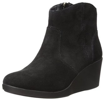 crocs Women's Leigh Suede Wedge Boot $41.17 thestylecure.com