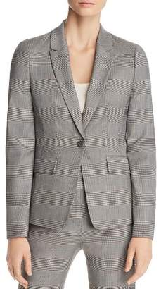 BOSS Jofilia Plaid One-Button Blazer