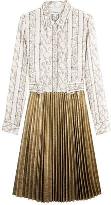 3.1 Phillip Lim Silk Dress with Pleated Skirt