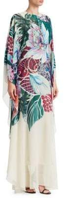 Roberto Cavalli Floral Silk Caftan