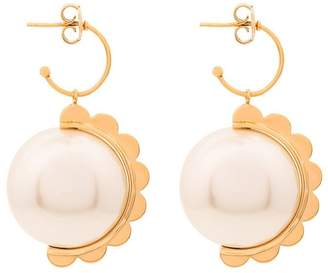 Simone Rocha pearl scalloped earrings