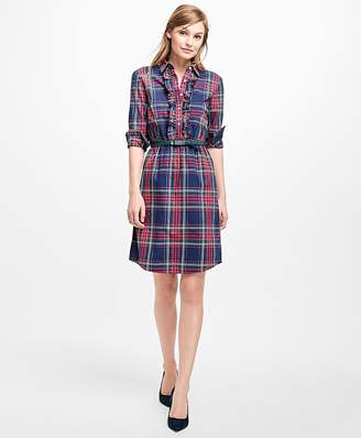 Plaid Shirt Dress $98 thestylecure.com
