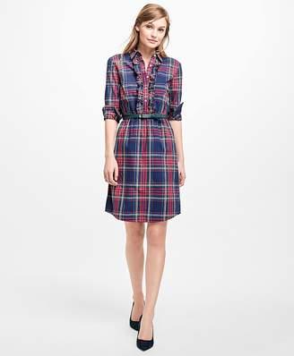 Plaid Shirt Dress $98 thestylecure.com