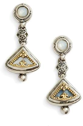 Konstantino Eched Sterling Silver & Gold Drop Earrings